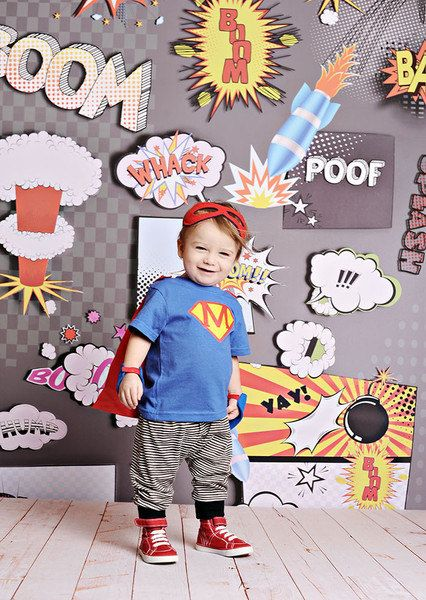 BOOM Photo Backdrop by PepperLu on Etsy, $69.99
