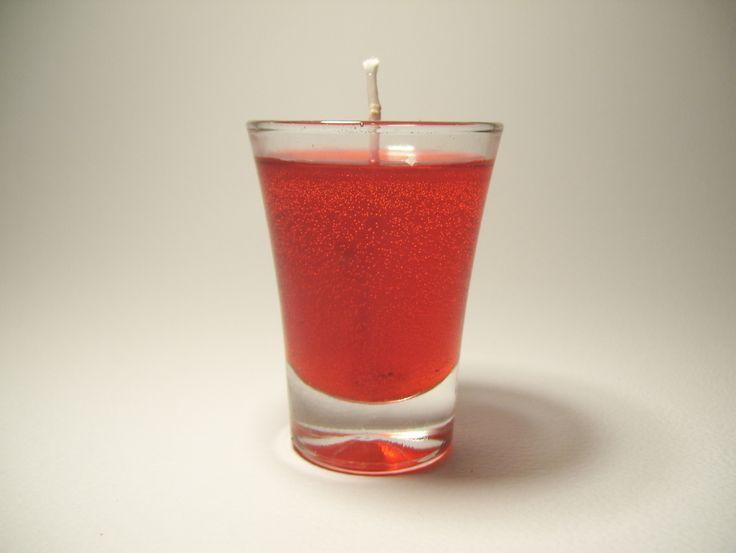Souvenir de vela gel en vaso de vidrio — Artyvel Souvenirs. Souvenirs de 15 años en vela gel. El color del gel es a elección.