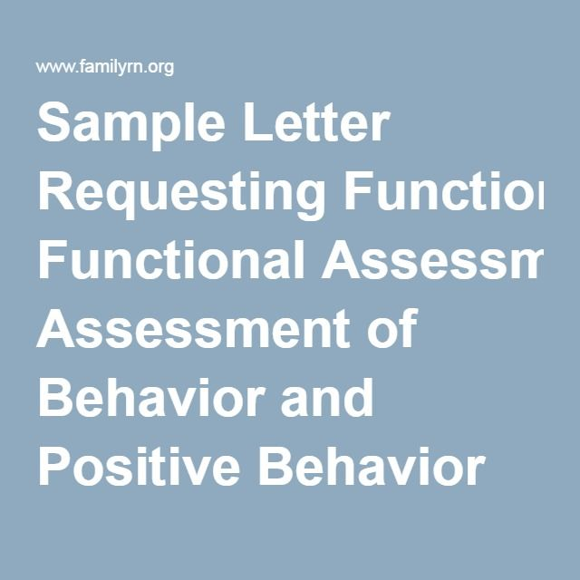 Functional behavior assessments and behavior support