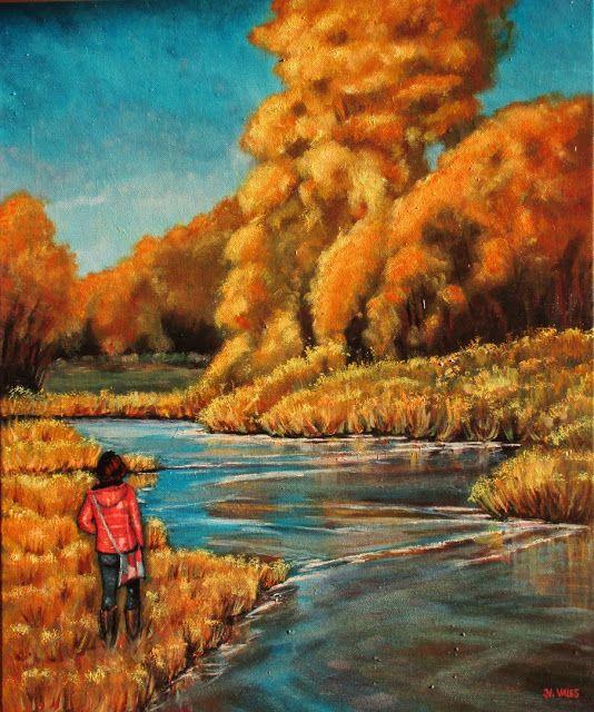 Pinturas e debuxos: Paseo pola ribeira.
