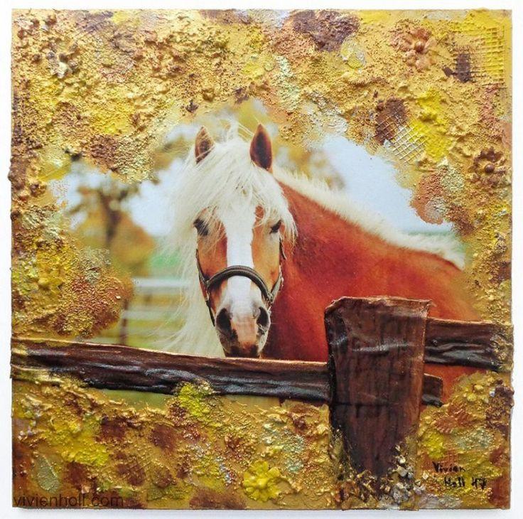 Horse series - Yellow (Lovas sorozat - Sárga) - 32 x 32 cm, 2017, https://www.vivienholl.com/en/portfolio-items/paverpol-horse-series-yellow/ #paverpol #ló #lovak #horse #horses #vivienholl