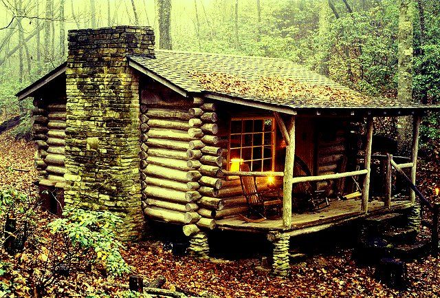 Old Log Cabin In The Woods Homes I Love Pinterest