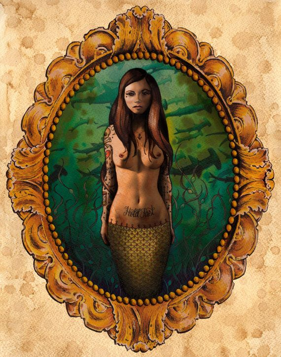 The Abysmal Abyss. tattoos. sexy siren.: Canvas Prints, Brittany Morgan, Art Reproduct, Canvas Art, Art Prints, Artworks Canvas, Abysm Abyss, Canvas Features, Hottest Tattoo
