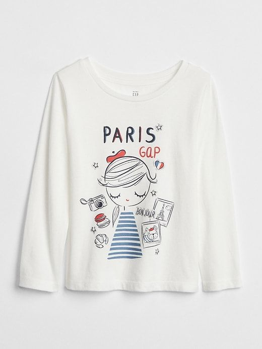 0ae37c5a2 Gap Baby Graphic Long Sleeve T-Shirt Paris