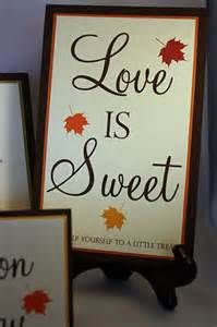 "fall wedding dessert table ""love is sweet"""