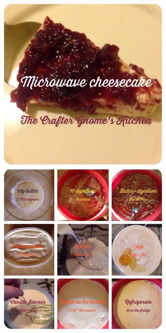 Microwave cheesecake