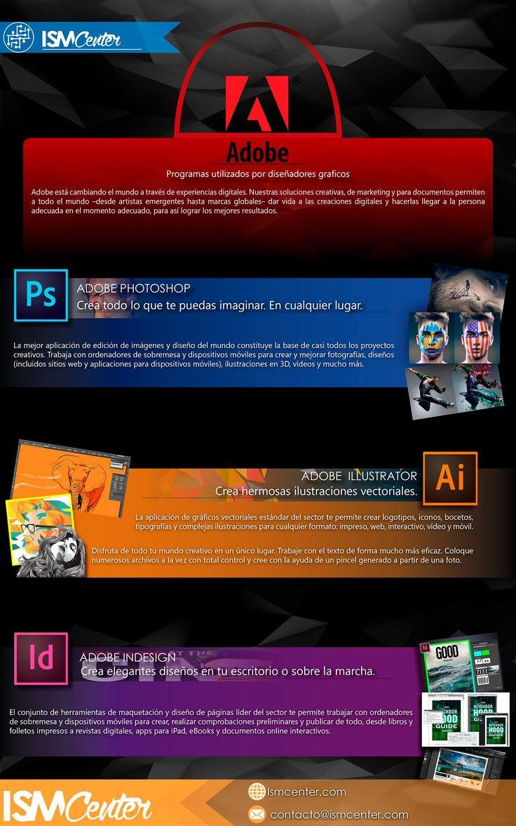 ¿Cuáles son las principales #herramientas de #diseñográfico? ¡Aquí las tienes! #ISMCENTER #tecnología #marketing #innivación