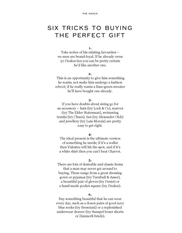 guide for men's gifting