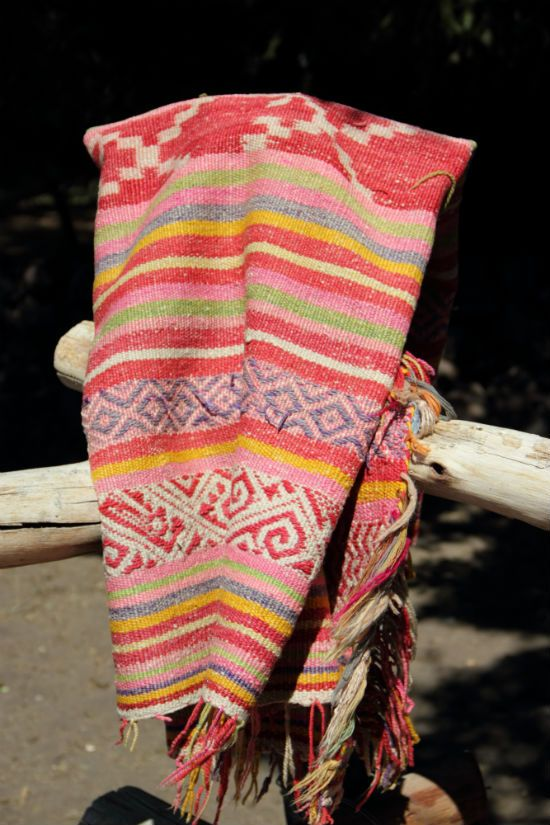 Antique mapuche throw