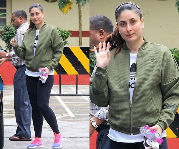 Kareena Kapoor Khan looks sleep deprived as she hits the gym on a Sunday morning – view HQ pics #FansnStars