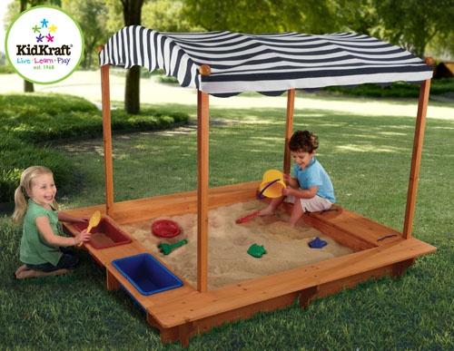 KidKraft Outdoor Sandbox w Canopy | Sandbox with canopy ...