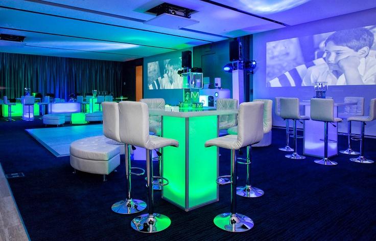 Great modern bar mitzvah decor © Michael Jurick