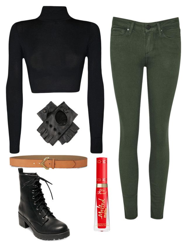 """""""Kim Possible Costume"""" by noellemary ❤ liked on Polyvore featuring WearAll, Black, Madden Girl and Express"""