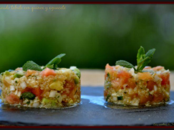 Receta Entrante : Pseudo tabule con quinoa y aguacate por Tererecetas