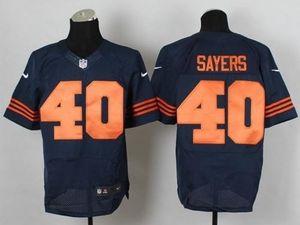 Nike Bears #40 Gale Sayers Navy Blue Alternate Men's Stitched NFL Elite Jersey