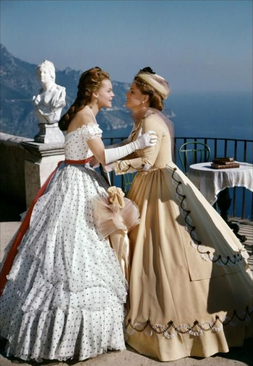 Romy Schneider as Empress Elisabeth 'Sissi' of Austria and Magda Schneider as Duchess Ludovika of Bavaria in Sissi - The Fateful Years of an Empress (1957).