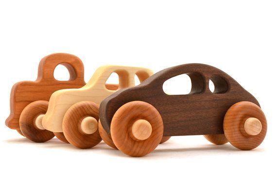 Houten speelgoed auto Kies uw stijl Eco van hcwoodcraft op Etsy