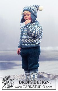 DROPS Childs cardigan with borders, hat and socks in Karisma Superwash. ~ DROPS Design