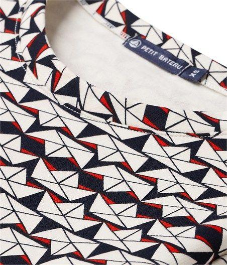 Petit bateau - Sweat-shirt femme imprimé origami