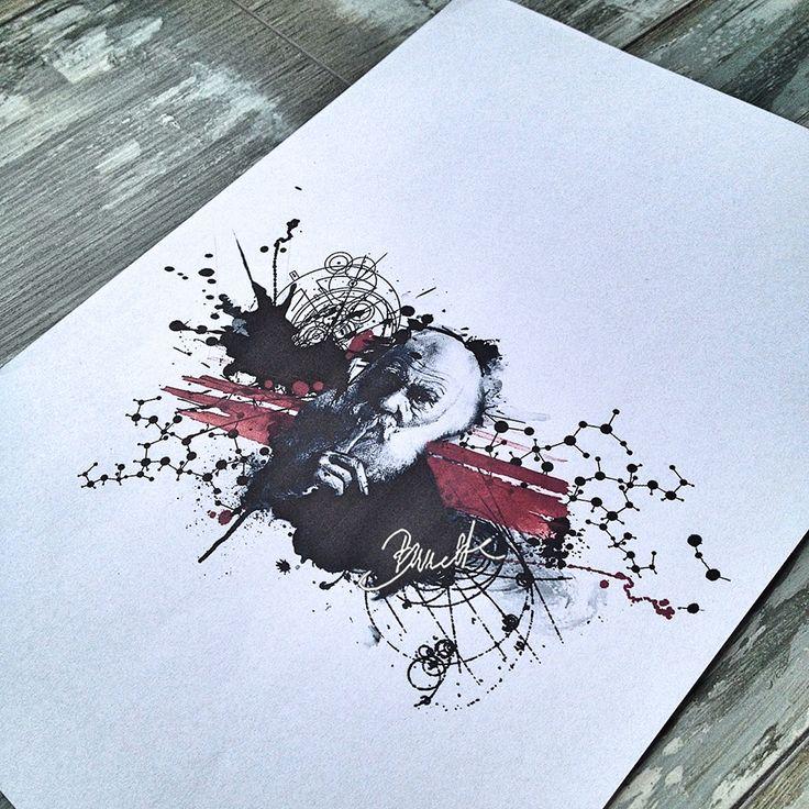 Abstract trash polka geometric tattoo darwin
