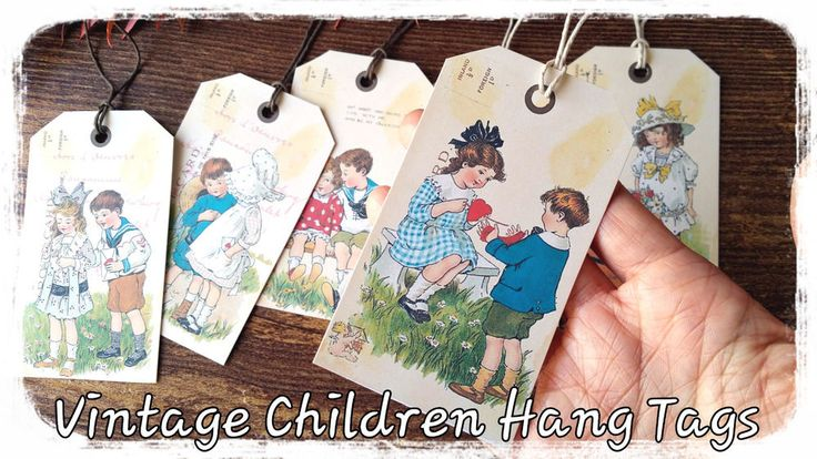 6xRetro Vintage Thank You Hang Tags,Wedding Favor Gift Paper Tags,Craft paper