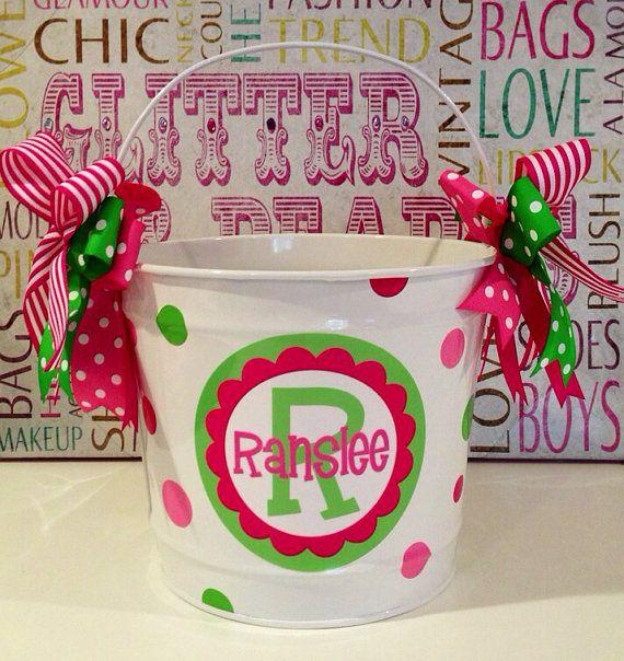 87 best easter basket ideas images on pinterest easter baskets items similar to easter bucket quart on etsy negle Images