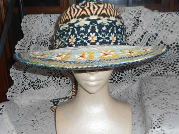 Resort Wear Hand Painted Hat Ladies Sun Hat Beach Hat