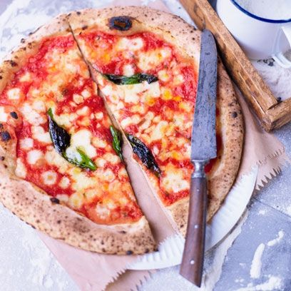 Best Vegetarian Pizza Recipes: Margherita pizza by Pizza Pilgrims. Click the image to find the pull recipe at redonline.co.uk