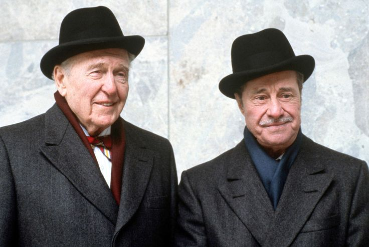 voxsart:Randolph And Mortimer.Ralph Bellamy and Don Ameche, 1983.