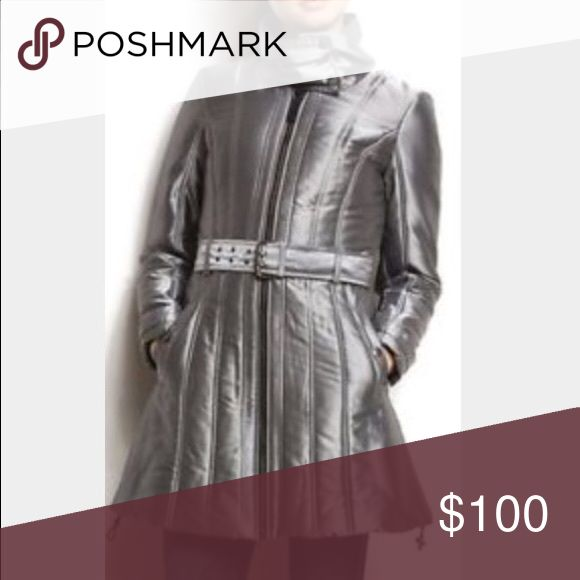 Armani Exchange Metallic Winter Coat- Like New! Armani Exchange Metallic Winter Coat- Like New!  No flaws! This was worn once- very on trend! A/X Armani Exchange Jackets & Coats