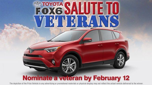 Andrew Toyota Scion is proud to be a part of this great giveaway for our vets. Toyota USA will be giving away a brand new 2016 Toyota #RAV4! The giveaway will take place on 02/24/2016 from 4-5 PM live at the Greater Milwaukee Auto Show. Our Owner, Board Representative, and TDA President Andy Schlesinger will be saying a few words on behalf of the Milwaukee Toyota dealers when the winner is announced. #GoodLuck #ThankYouForYourService