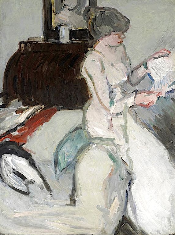 Samuel John Peploe (British, 1871-1935) Interior with Girl in White