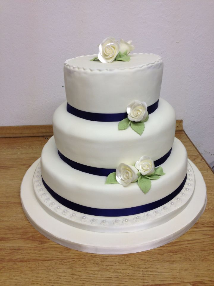 3 tier stack wedding cake.