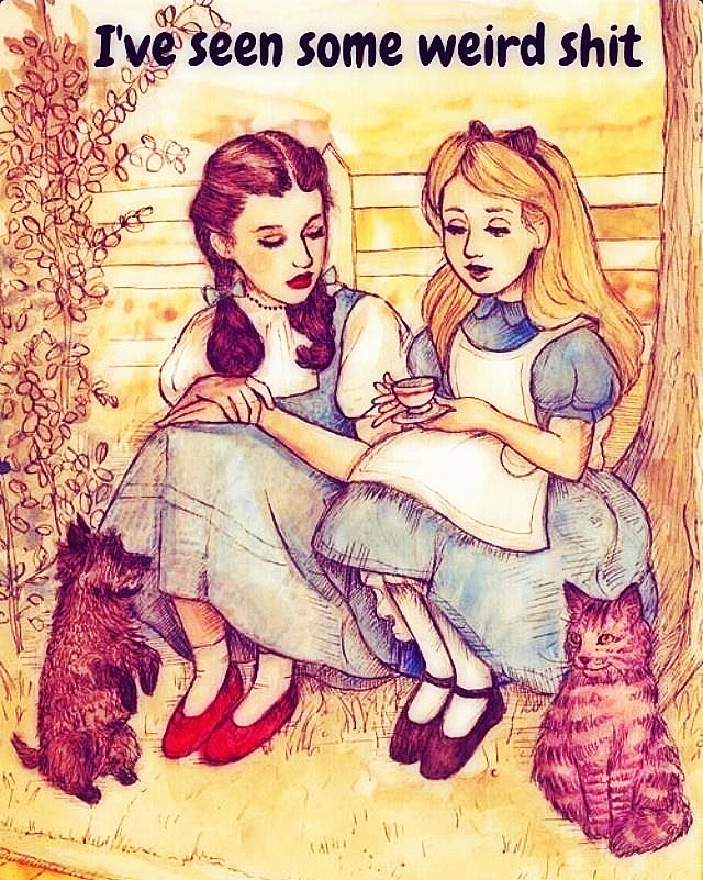 Alice is much less dramatic than Dorothy, I think. I kind of identify with her more.