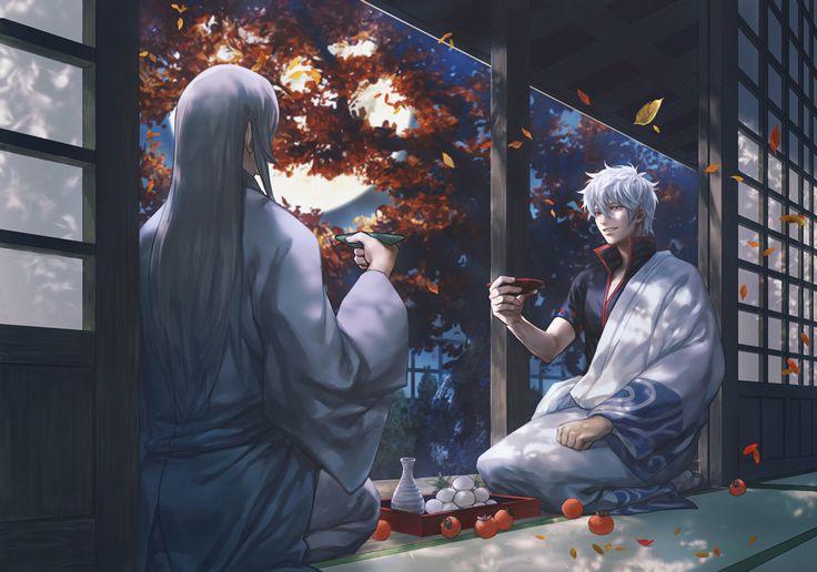 "bishie-chan: "" log │ MIKI努力画 (Pixiv Id 3019748) Characters: Gintoki & Kotarou Anime: Gintama ※ Authorized reprint """