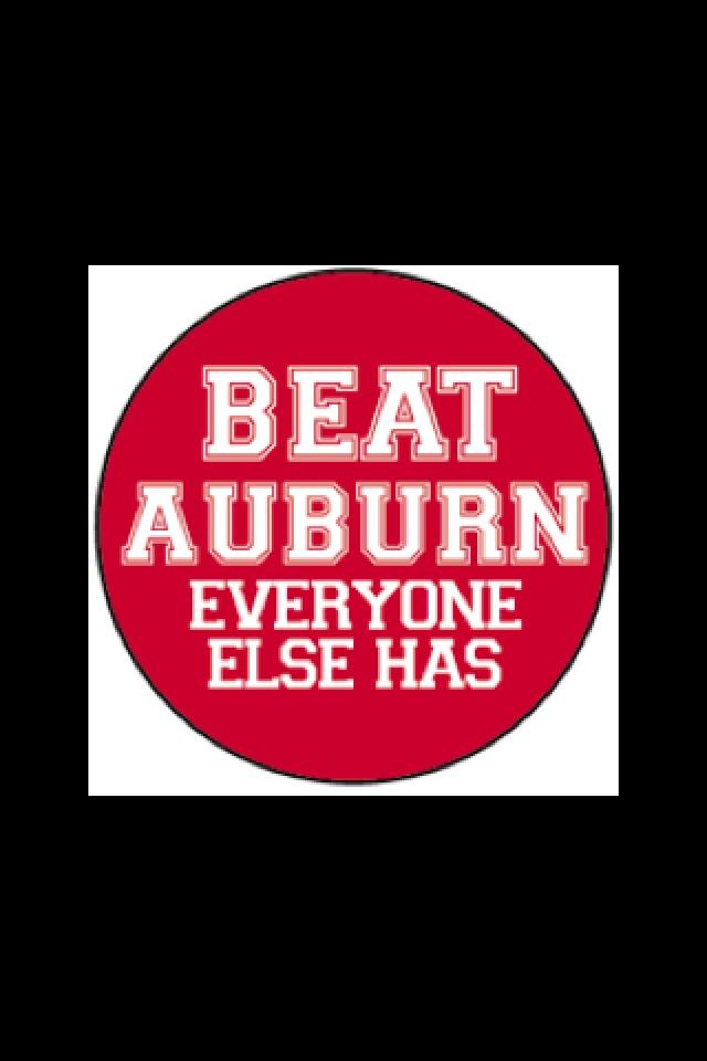 Auburn hate week! Lets go Alabama | how 'bout them DAWGS ...