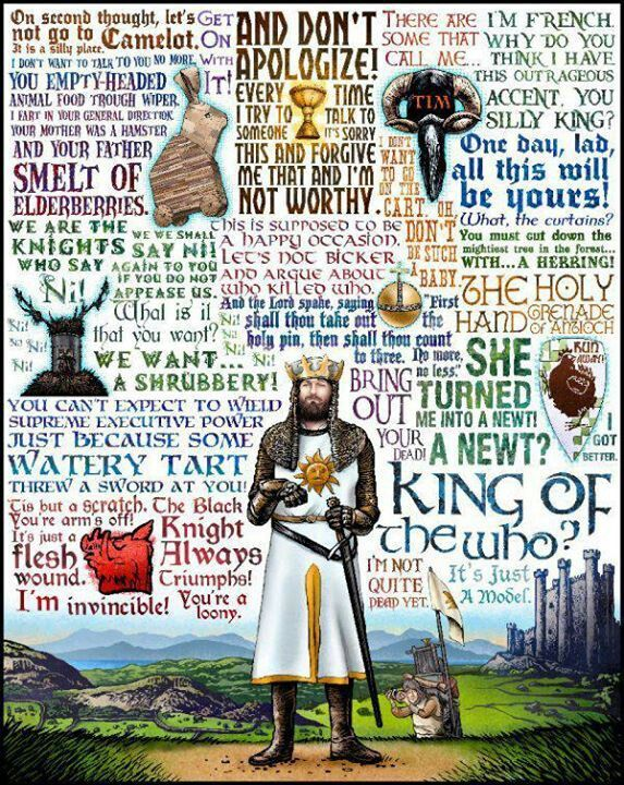King of the Who: Monty Python & The Holy Grail tribute- signed print (by Chet Phillips)  Favorite Lines