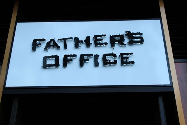 Fathers Office Entrance sign
