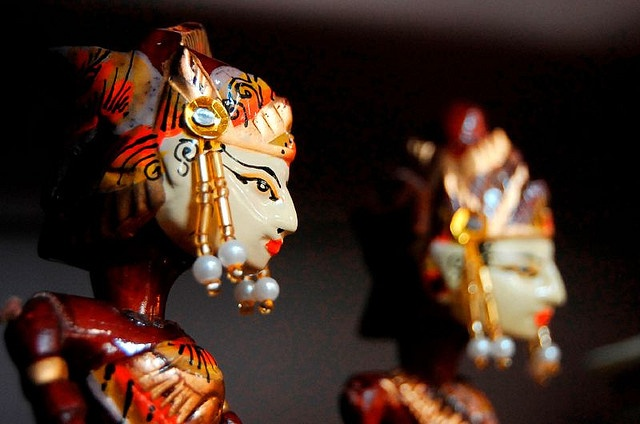 Wayang golek--wooden puppets from Indonesia