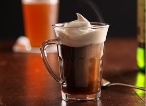 "Use Amaretto, Kahlua or Rum for different takes on Irish Coffee. I love that it comes from Chow's ""Hot Boozy Drinks"" feature."
