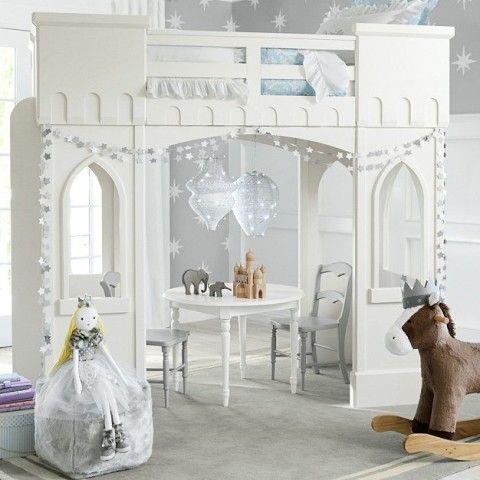 Castle Loft Bed - a little girls dream bed