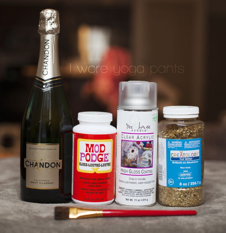 How to add glitter alcohol bouquets pinterest for How to make glitter wine bottles