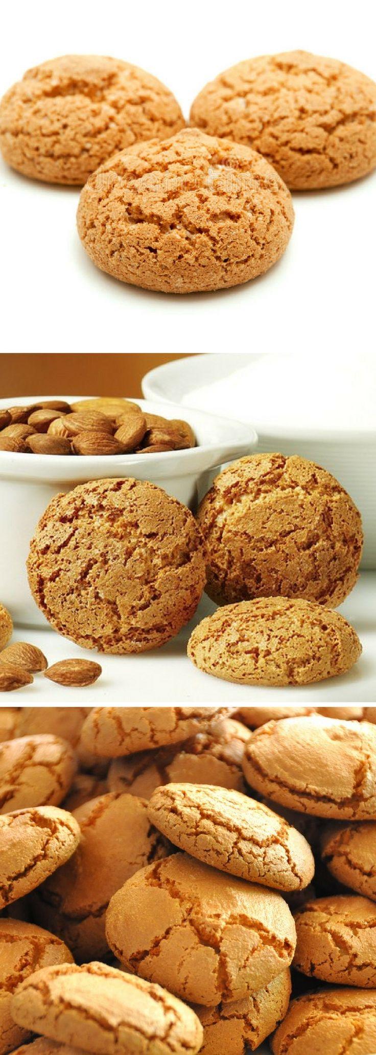 Receta de Amaretti son galletas presentes en todas las regiones de Italia hechas a base de pasta de almendra, elaborada con azúcar, clara de huevo, almendras dulces.
