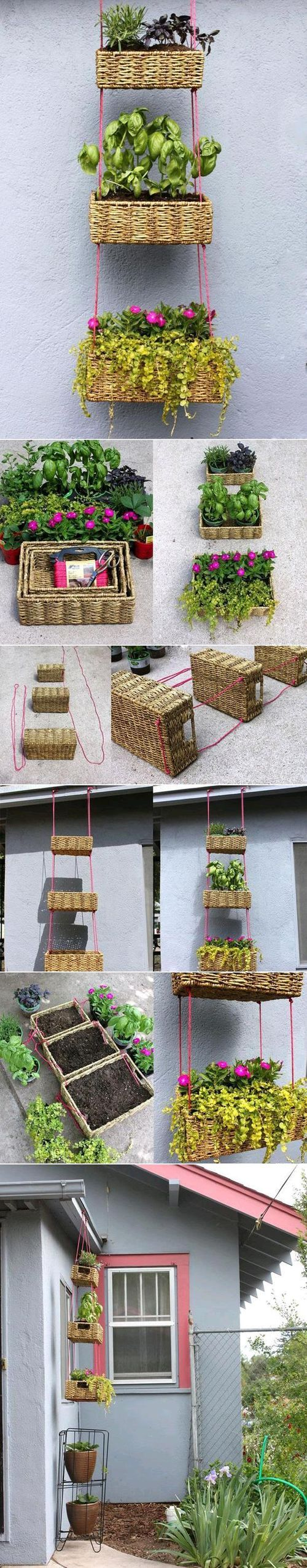 Hanging basket, maybe a smaller version for fruit in the kitchen?