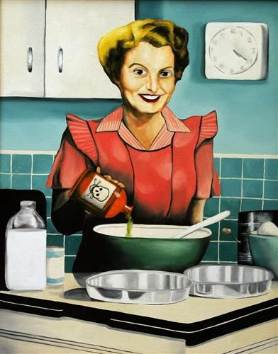 """""""The Secret Ingredient"""" by Kelly Hutchison #painting #kitchen #funny"""