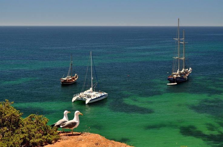 Nad pobřežím centrálního Algarve