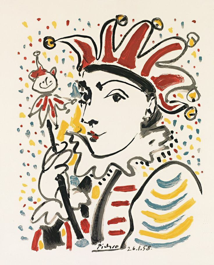Pablo Picasso (Spanish: 1881 - 1973), Carnival, 1958. Color lithograph on Arches wove paper.