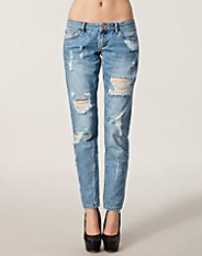 Jeans Cassie Ri Boyfriend - River Island - Denim blå - Jeans - Tøj - NELLY.COM