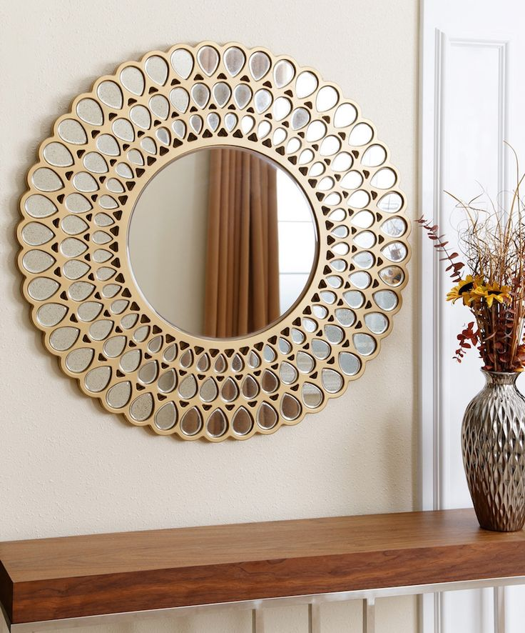 Amazing Round Wall Mirror Suggestion | Abbyson living Jaxon wall mirror is another masterpiece that certainly will provide a unique touch to the decoration of any room. ➤ Discover the season's newest designs and inspirations. Visit us at http://www.wallmirrors.eu #wallmirrors #wallmirrorideas #uniquemirrors @WallMirrorsBlog