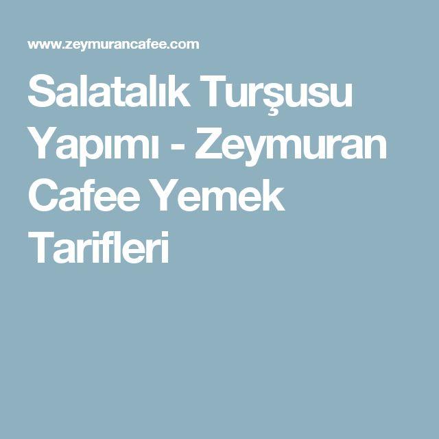 Salatalık Turşusu Yapımı - Zeymuran Cafee Yemek Tarifleri